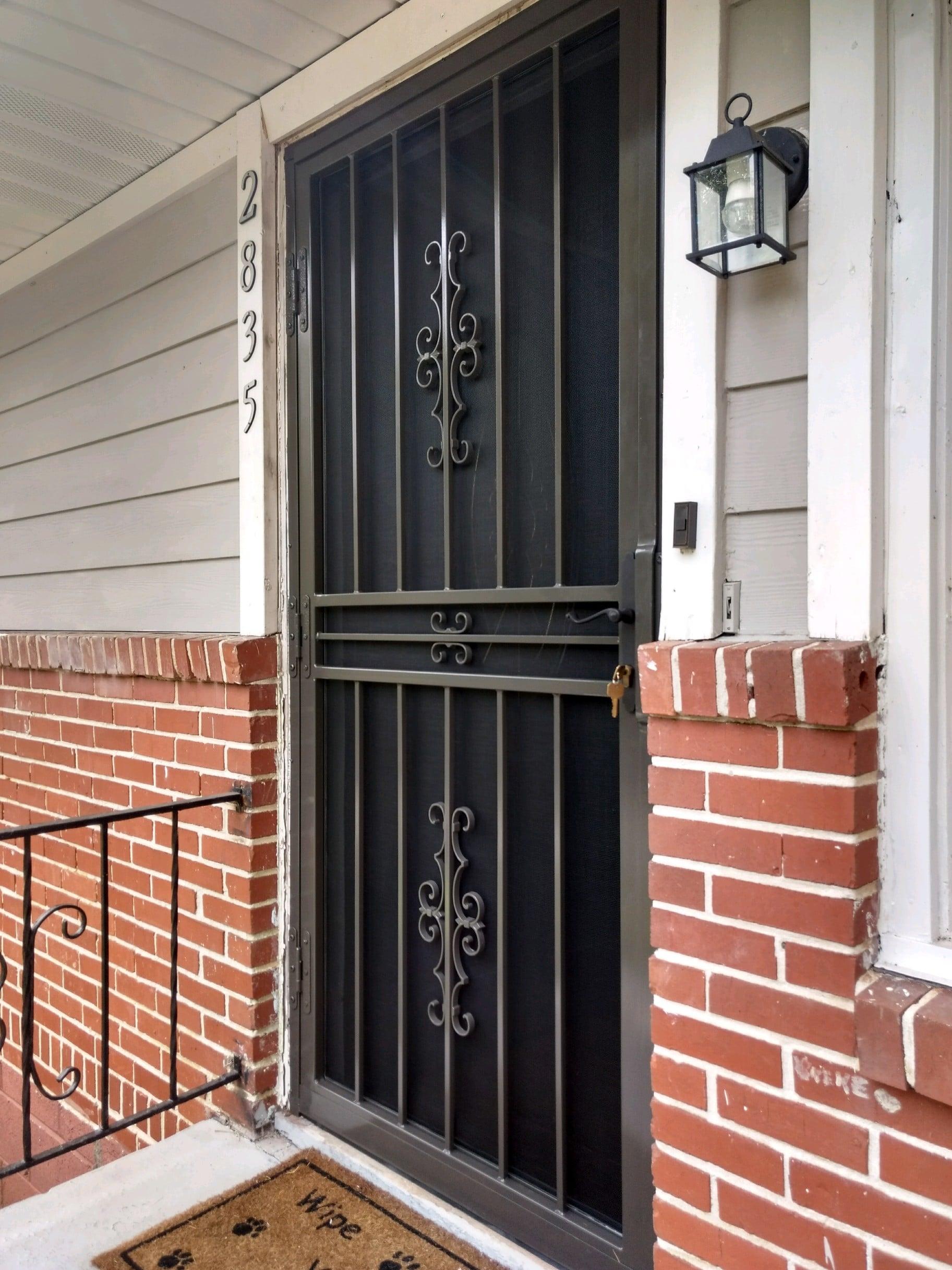Tulsa Door With Screen2 Ornamental Security